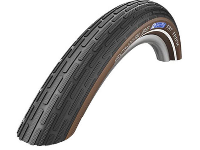"SCHWALBE Fat Frank Bike Tyre 28"", wire bead, Reflex brown/black"